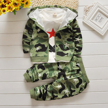 2016 new Children boys Children clothes long sleeve Hoodies +pants suit baby camouflage casual Sweatshirts kids boys clothes set(China)