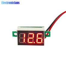 0.36 Inch Mini LED Digital Voltmeter Red Panel Voltage Meter DC 4.7~32V 3-Digit Display Adjustment Voltmeter(China)