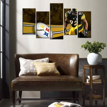 James Harrison Pittsburgh Steelers American Football Wall Art Oil Print On Canvas Painting Customized and Wholesale 5PCS/Set
