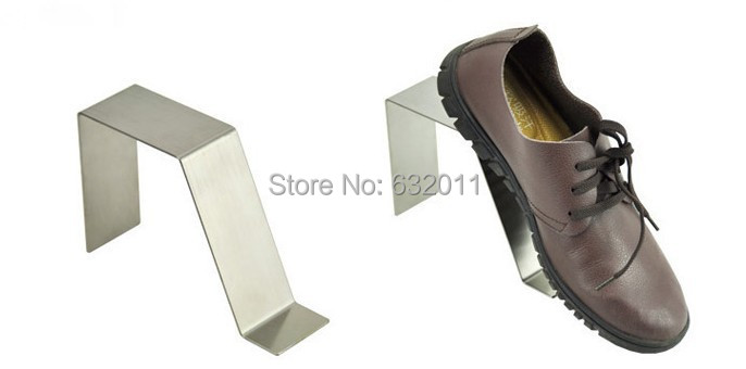 Matte silvery boutique shoes showing stand sandals man shoes display holder keeper shoes holder rack<br><br>Aliexpress