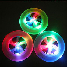 Kid Toy Spin LED Light Colorful Frisbee UFO Outdoor Toy Flying Saucer Disc Educational UFO Children Beach toys Fun Toy Sports(China)