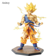 Retail Wholesale Dragon Ball Z Super Saiyan Goku Son Gokou Boxed PVC Action Figure Model Collection Toy Gift