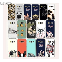 Lavaza 40af funny PUG cute Pet dog Hard Case for Samsung Galaxy A3 A5 J5 2015 2016 2017 J7 Grand 2 J3 J5 Prime Cover