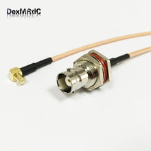 RF MCX Male Right Angle Switch BNC Female Pigtail Cable RG316 Wholesale Fast Ship 15CM(China)