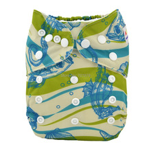 Alva Baby Classical All in One Diaper with Sewn-in 4-layer Bamboo Insert AO-YA120