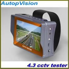 4.3 inch CCTV camera tester monitor analog CVBS camera testing UTP cable test 12V1A output free shipping