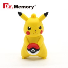 pokemon USB Flash Drive yellow Flash Drive Dr.memory 4gb 8gb 16gb 32gb Flash Memory Stick pocket monster u disco Poke Ball