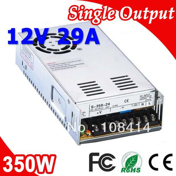 S-350-12 350W 12V 30A Single Output Switching power supply for LED Strip light AC to DC<br>