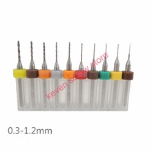 10pcs/lot Hard Alloy PCB Print Circuit Board Carbide Micro Drill Bits Tool 0.3-1.2mm set  for 0.1mm-3.0mm SMT CNC