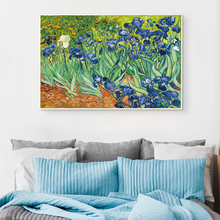 Bianche Wall Iris Flower by Vincent Van Gogh Famous Artist Art Print Poster Wall Picture Canvas Oil Painting Home Wall Decor