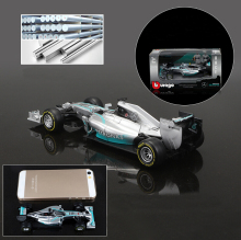 BBurago Maisto 1:43 F1 - AMG racing w05 hybrid #44 lewis hamilton #6 Nico Erik Rosberg For Baby collectio Gifts Toy FreeShipping