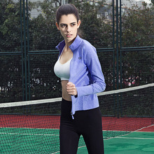 Maxmessy Women Sport Jacket Quick Dry Long Sleeve Running Gym Sweatshirt Cloth Fitness Zipper Jacket Outerwear Tennis Sportwears