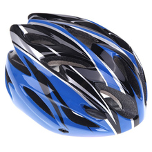 Good deal Cycling bike helmet sports Ultralight severally mold with adult visor (blue)