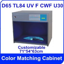 Free Shipping Color Matching Cabinet 6 light sources: D65 TL84 UV F CWF U30 Size:71*54*63cm AC220V Customizable Color Assessment