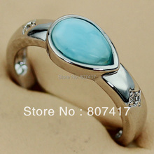 Fashion RINGS Wholesale Larimar jewelry Silver Plated R3538 sz#6 7 8 9 Favourite Best Sellers New Arrivals Explosion models Rock