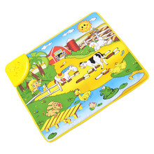 Hot Kids Baby Happy farm Animal Musical Touch Play Singing Carpet Mat Toy Play Game Carpet Musical Mat Toy Singing
