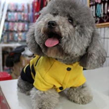 Pet Dog Cat Fleece Bumble Bee Warm Wing Hoodie Costume Coat CuteCachorro Mascotas  Apparel Clothes