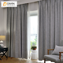 DIHIN 1 PC Ready Made Linen/Cotton Curtains For Living Room 8 Colors Window Drapes 90% Blockout Friendly Cloth