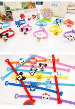 10pc/lot Disny Cartoon Mickey Minnie Silicone Armband Kids Party Costume Birthday Festival Party Take-home Favor Gift