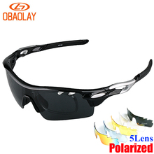 OBAOLAY Polarized Cycling Sunglasses Men 2017 Radar EV Pitch Ciclismo Occhiali MTB Glasses Bicycle Eyewear UV400 Bike Glasses