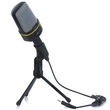 Classic Fashionable Good Quality Unidirectional Dynamic Condenser Sound Microphone with Stand Holder for MSN Skype