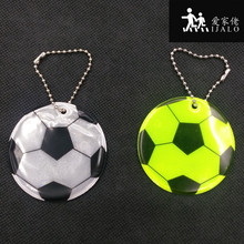 FOOTBALL Reflective bag pendant accessories, Reflective keychain reflective keyrings for visible safety(China)