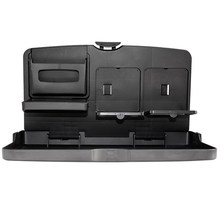 Universal Auto Car Back Seat Table Drinks Folding Cup Holder Stand Desk Black Multifuntional Trays For All Cars Drinks Holders