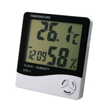 Mini Digital LCD Temperature Humidity Meter Clock Indoor Hygrometer Thermometer 92QB