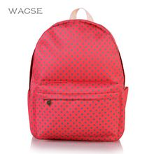 New Fashion Red Dots  Backpack Preppy Style Large Capacity Schoolbags Mochila