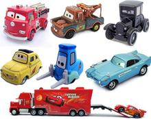 Pixar Cars 1:55 Lightning McQueen 95 - Dinoco - Chick Uncle Jimmy container truck 43 86 Disney alloy toy children birthday gift(China)