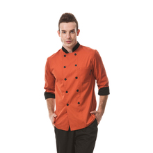 Restaurant Hotel Kitchen Chef Coats Jackets Uniforms Men Male Women Female  Unisex Long Sleeves Double-Breasted Buttons