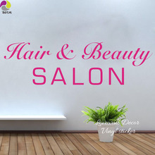 Hair Beautiful Salon Wall Sticker Barber Shop Manicure Spa Nail Woman Wall Window Door Decal Decor Vinyl Art Mural DIY