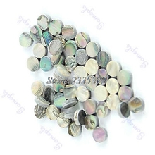 Free Shipping 50 Pieces 6mm Colorful Abalone Inlay Material Dots Guitar Parts