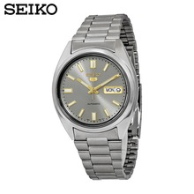 Seiko 5 Automatic 21 Jewels Grey Dial Watch Men's watch Made in JapanSnxs75j1 SNXS79J1(China)