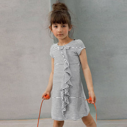 Baby Girls summer casual dresses kids short sleeve striped princess cotton dress children fashion clothes Girl Christmas Dress<br><br>Aliexpress