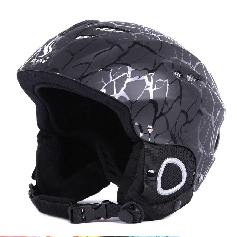Professional Adult Youth Sports Helmets Skiing Helmet Ski &amp; Snowboard Cool Balck Motorcycle Head Protect Winter Helmet P15<br>