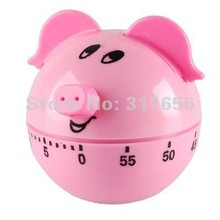 Creative Pig Pig Shaped Mechanical Kitchen Timer 60 Minutes - Long Ring Chime