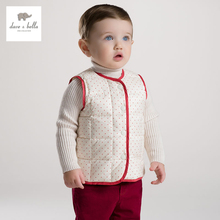 DB2969 dave bella autumn baby padded vest boys down feather vest infant clothes toddlers waistcoats girls vest(China)