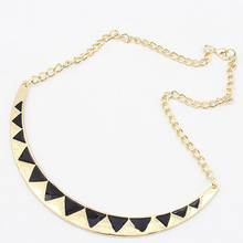 Tomtosh Free shipping High quality Fashion accessories oil triangle fashion necklace Short paragraph triangle