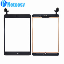 For ipad Mini 1 / 2 Touch Glass Screen Digitizer Home Button Assembly with IC conector replecement For ipad mini 1 2 touchscreen
