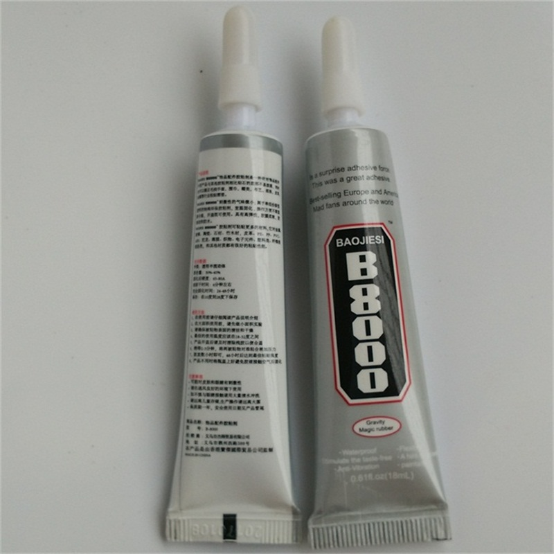 6pcs 18ml B8000 super glue fabric special adhesive hat cell phone case epoxy resin glue(China (Mainland))