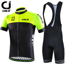 Buy Cheji 2017 Bike Team Racing Sport Cycling Jersey Sets Men Short Sleeve MTB Bicycle Cycling Clothing Breathable Bike Jersey Suit for $32.28 in AliExpress store