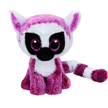 "Pyoopeo Ty Beanie Boos 6"" 15cm Leeann Pink Lemur Plush Regular Stuffed Animal Collectible Soft Doll Toy"