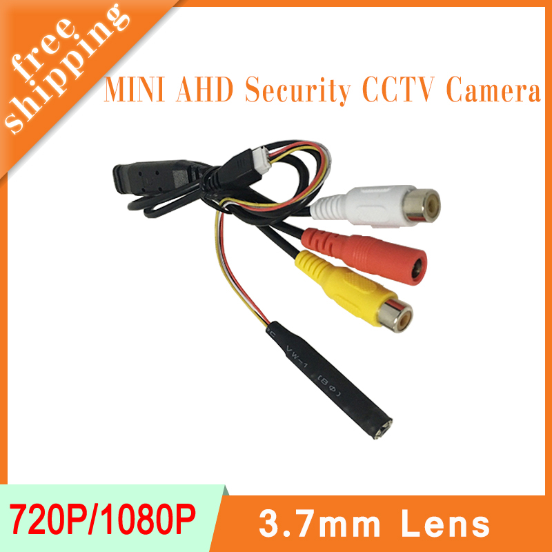 Black Color Audio 3.7mm Lens Mini CMOS Infrared night vision 720P/1080P AHD CCTV Surveillance cameras Free Shipping<br>
