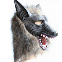 Interesting Wolf Full Head Overhead Cover Halloween Wolf Mask Cospaly Up Masquerade Fancy Props Party Cosplay Supplies Gifts
