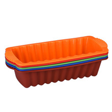 Big Silicone Rectangle Non Stick Bread Loaf Cake Mold Bakeware Baking Pan Oven Mould 26*14CM random color supply