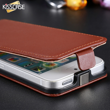 KISSCASE Luxury Leather Case For iPhone 5 5S 5G SE Cases Holster Retro Phone Accessories Flip Cover Pouch For Apple iPhone 5S SE(China)