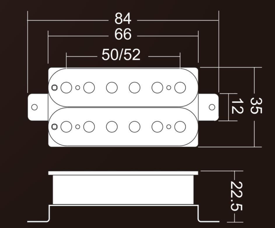 KAISH Set of 2 Black Alnico V Guitar Humbucker Neck&amp;Bridge Pickup Power Sound Pickups<br>