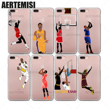 Aertemisi Phone Cases Stephen Curry Derrick Rose Carmelo Anthony Clear TPU Case Cover for iPhone 5 5s SE 6 6s 7 Plus(China)