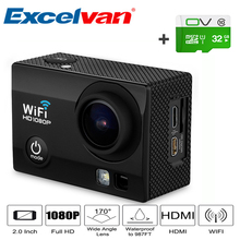 Wifi Action Sports Camera Q5 12MP 2.0 inch 30M HD Lens 30M Waterproof DV Video 170 Wide Angel Sports Action Mini Camera